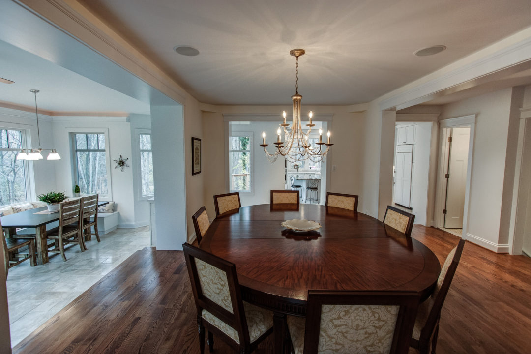 formal dining room to kitchen & morning room
