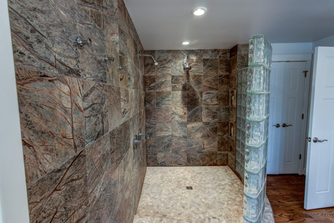 spa-shower in master bath